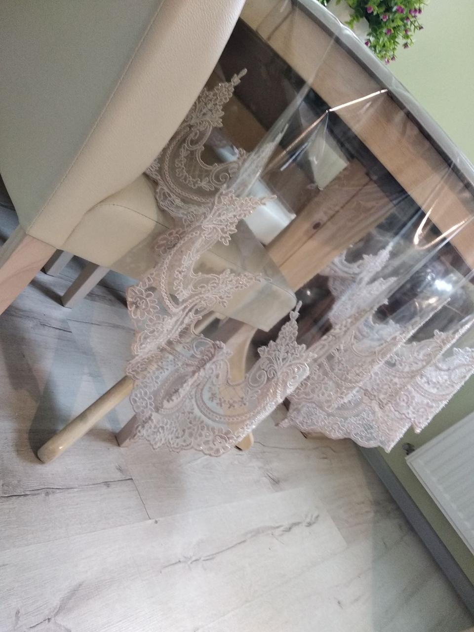 Скатерть на стол силиконовая с кружевом 160Х220см  мягкое стекло Турция Verolli в расцветках
