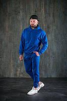 Спортивный костюм WOW Мужской оверсайз ВЕСНА худи с капюшеном Качество LUX (Размер S) Синий