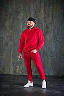 Спортивный костюм WOW Мужской оверсайз ВЕСНА худи с капюшеном Качество LUX (Размер S) Красный