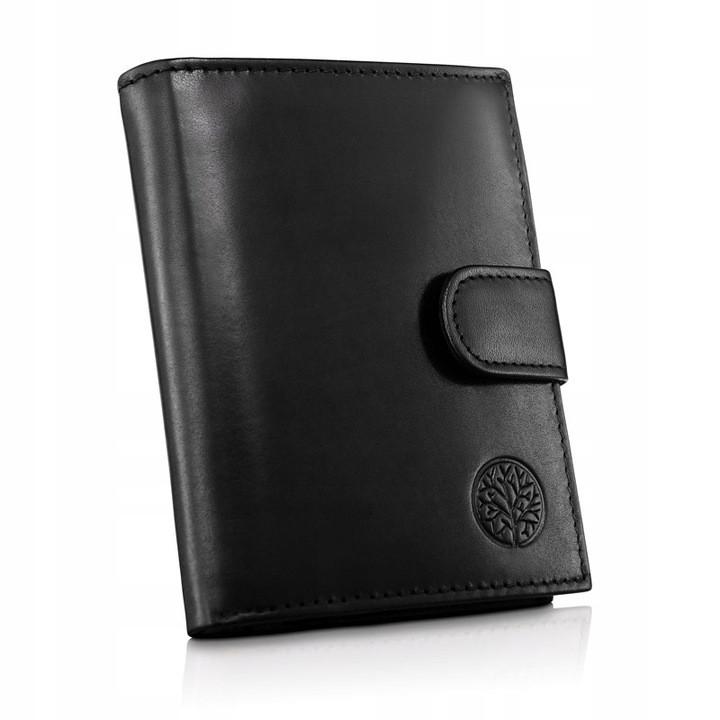 Чоловічий шкіряний гаманець Betlewski з RFID 12,4 х 9,5 х 3 (BPM-NVTC-64) - чорний