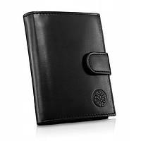Чоловічий шкіряний гаманець Betlewski з RFID 12,4 х 9,5 х 3 (BPM-NVTC-64) - чорний, фото 1