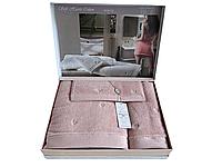 Набор полотенец Maison D'or Soft Hearts Rose махровые 30-50 см,50-100 см,85-150 см розовые