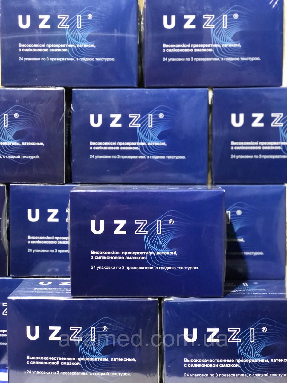 Презервативи UZZI #3 гладкі з силіконовою змазкою