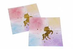 """Бумажные салфетки """"Unicorn"""" gold (10 шт)"""