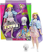Кукла Барби Экстра Модница Мерцающий образ Barbie Extra Doll in Shimmery Look with Pet Puppy