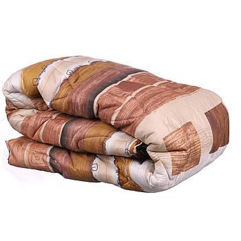 Одеяло двухспальное Constancy 175 х 205 (29358) Иероглифы на коричневом в полоску