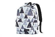 "Рюкзак для ноутбука 2E TeensPack 13"" Triangles White (2E-BPT6114WT)"