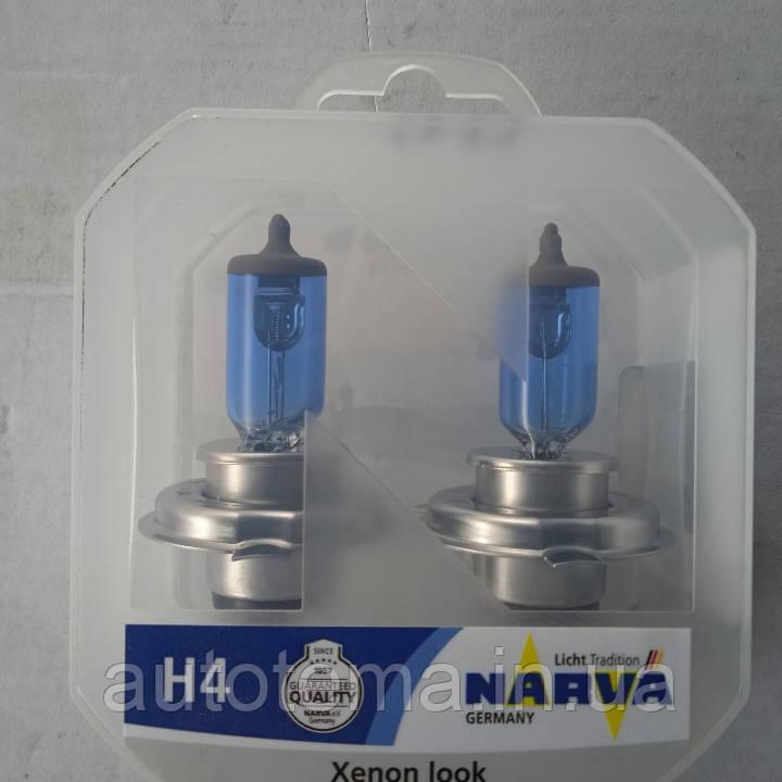 Комплект Автомобільні лампи NARVA H4 60/55 W 12 B RANGE POWER WHITE