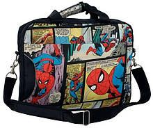 Сумка для ноутбука до 14,1 дюймов Paso Spider Man Черный (SPB-514)