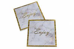 """Бумажные салфетки """"Enjoy"""" gold (10 шт.)"""