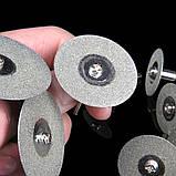 Круг відрізний алмазний 35mm 10шт +2 штанги алмазний круг свердло цанга патрон насадка гравер Dremel, фото 7