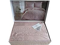 Комплект постельного белья Maison D'or Mirabella Dantela Rose жакардовый 220-200 см розовый