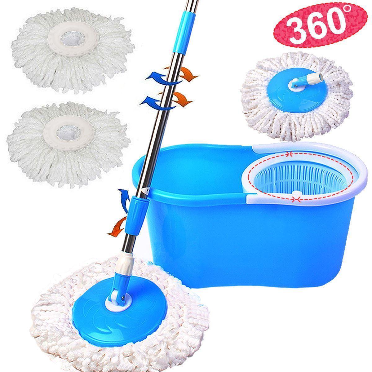 Швабра-лентяйка с турбо отжимом и ведром Spin MOP 360° с круглой насадкой