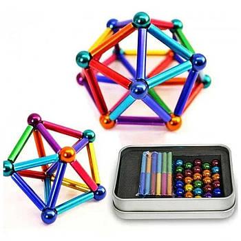 Магнитный конструктор Neo 28 стальных шариков Color