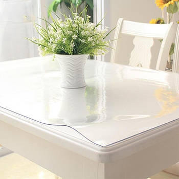 Скатерть на стол жидкое стекло STENSON Crystal 1.5 мм х 1 м (MA-3908) Цена за 1 метр