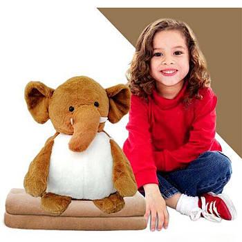 Іграшка плед трансформер 3 в 1 Happy Toys мікрофібра (29382) Слон з иклами