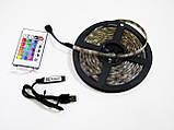 Світлодіодна стрічка 5v usb led 5050 bluetooth RGB 5 метрів різнобарвна (управління через телефон), фото 2