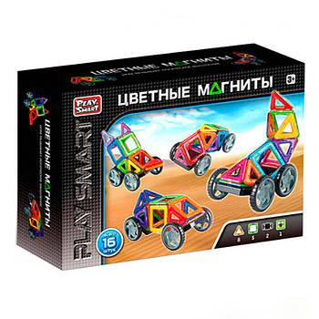 """Конструктор магнитный 2426 (48/2) """"Play Smart"""", 16 деталей, 5 моделей, в коробке [Коробка] -"""