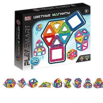 """Конструктор магнитный 2427 (48/2) """"Play Smart"""", 30 деталей, 9 моделей, в коробке [Коробка] -"""