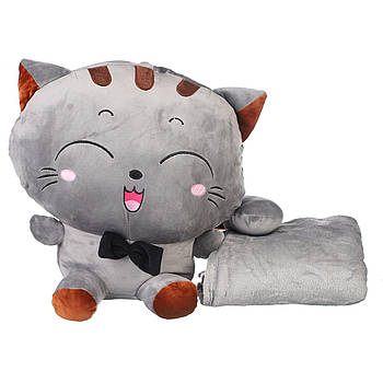 Іграшка плед трансформер 3 в 1 Happy Toys мікрофібра (29378) Котенята
