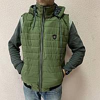Жилетки хакі на чоловіків великих розмірів пр-во. Україна D467G