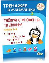 2~4 клас. Тренажер із математики. Табличне множення та ділення чисел 1~5. ( Сметана О.В.), ПЕТ