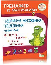 2~4 клас. Тренажер із математики. Табличне множення та ділення чисел 6~9. ( Сметана О.В.), ПЕТ