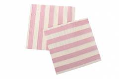 """Бумажные салфетки """"Pink white stripes"""" (10 шт.)"""