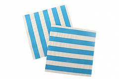 """Бумажные салфетки """"Blue white stripes"""" (10 шт.)"""