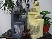 Декоративний вуличний фонтан-водопад з LED підсвіткою