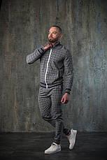 Мужской спортивный костюм в клетку бомбер и штаны Scot 3 цвета в наличии, фото 3
