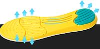 Стельки ортопедические Arch Спорт с силиконовым амортизатором пятки 40-46 размер