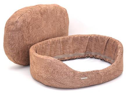 Лежак для собак і котів №1 320х430х125 коричневий, фото 2