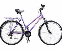 Городской дорожный 28 Турист 286 WA (ХВЗ) женский велосипед с амортизатором 6 ск.