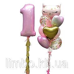 Шарики на день рождения девочке и шарик цифра 1