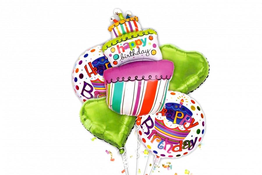 """Набор воздушных шаров """"Cake"""" 5 шт"""