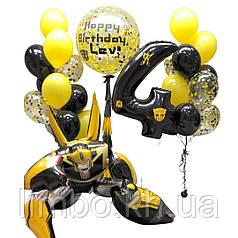 Украшения шарами на день рождения в стиле Трансформер