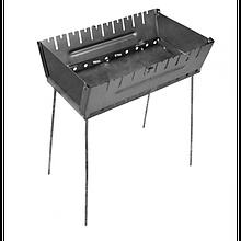 Раскладной мангал чемодан 2 мм на 10 шампуров толщина 2 мм