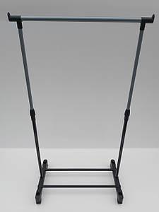 Одинарная телескопическая стойка для одежды на колесиках.