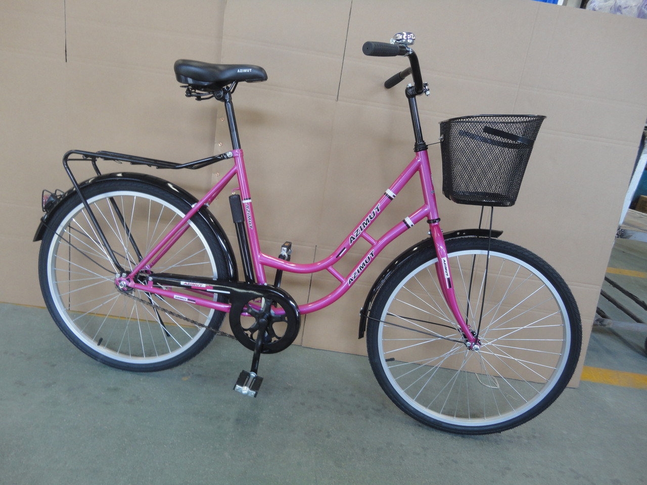 Городской велосипед 28 дюймов RETRO Азимут багажник Салют