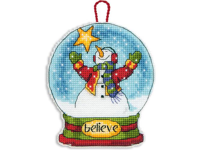 Набор для вышивания Dimensions Believe Snow Globe Ornament (08904)