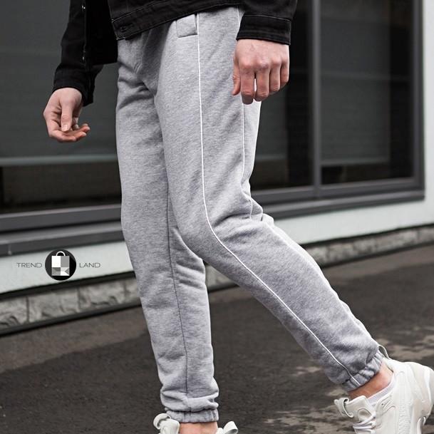 Універсальні чоловічі штани з смужками Midle Сірі