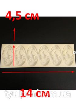 2D Форма силиконовая  кролики  молд для мастики