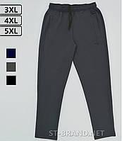 Большие размеры 3ХL-5ХL (54-58). Мужские спортивные штаны ST-BRAND / Трикотаж двунитка - темно-серые