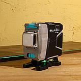 3D DEKO DKLL12tdP02 12 линий 360 градусов Зеленый ЛУЧ ➜ до 50м лазерный уровень нивелир, фото 7