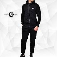 Мужской утепленный спортивный костюм в стиле Under Armour Classic Black