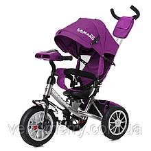 Трехколесный велосипед Tilly Camaro T-362 (фиолетовый цвет) с родительской ручкой