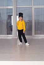 Повсякденний дитячий костюм дівчинці на 2 3 4 роки 5 6 років теплий весняний жовтий верх чорний низ з шапкою