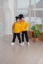 Спортивный детский костюм унисекс для 2 3 4-х 5 6-ти лет черно-желтого цвета тёплый весенний в детский сад