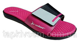 Женские шлёпанцы  Rider 82569 black/pink Оригинал 39